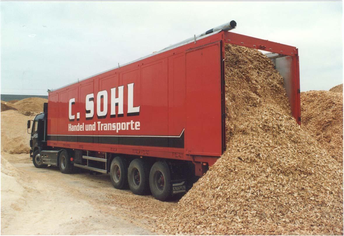 Sàn Trượt Tự Đổ Gắn Container Vận Chuyển Wood Chips Dăm Gỗ