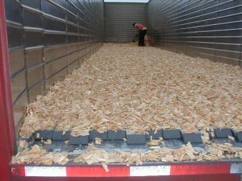 Sàn Trượt Tự Đổ Gắn Container Chở  Đá, Sỏi, Cát, Vật Liệu Xây Dựng